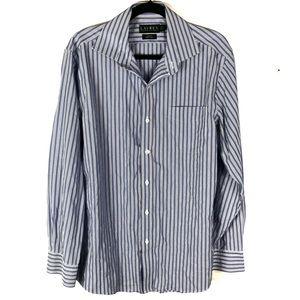 RALPH LAUREN blue stripe button down shirt U2